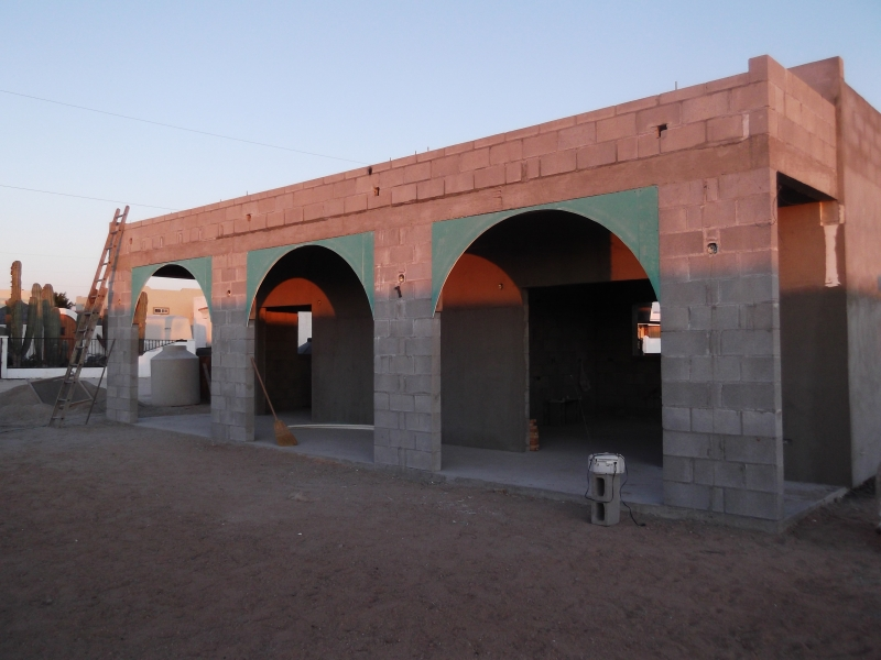 How the arches look in the morning