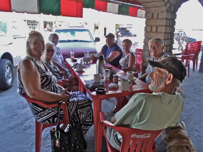 "Photo of the Junta de Viejos @ Chumpos Restaurant. Daily meeting of the ""Old Ones"" San Felipe MX"
