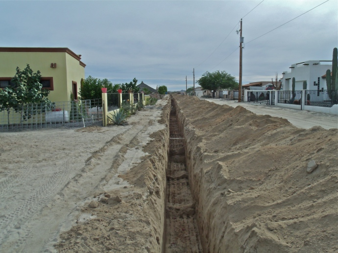Long ditch on my street