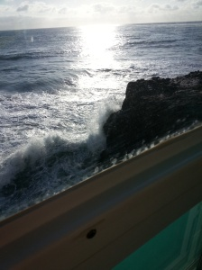 View of the waves below the new Splash Restaurant