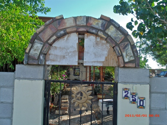 Form to make the Arch over the entrance