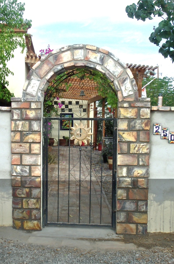 Gate from outside on the street